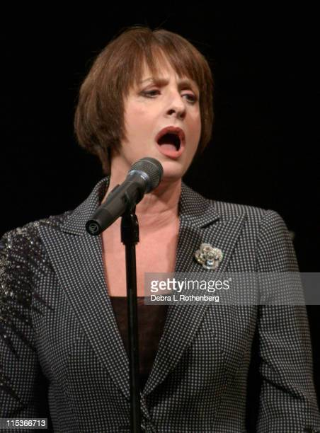 Patti Lupone during Wall to Wall Sondheim at Symphony Space in New York City New York United States