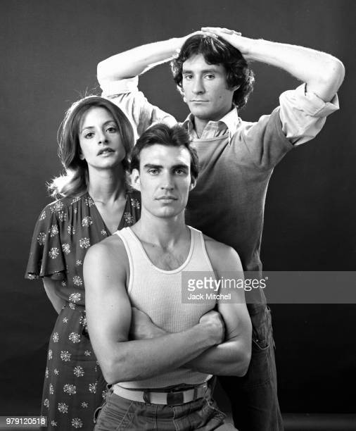Patti LuPone Kevin Kline and Norman Snow all members of John Houseman's 'The Acting Company' photographed in August 1975