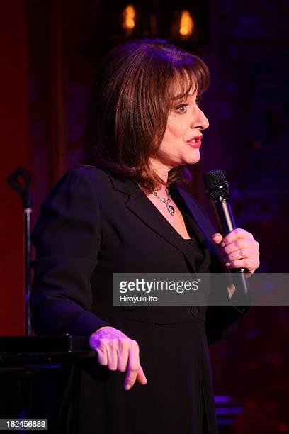 Patti LuPone performing her show 'Coulda Woulda Shoulda Played That Part' at 54 Below on Wednesday night February 13 2013