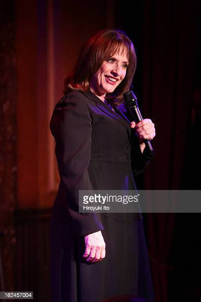 Patti LuPone performing her show Coulda Woulda Shoulda Played That Part at 54 Below on Wednesday night February 13 2013