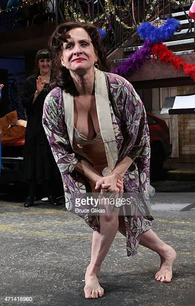 Patti LuPone takes her cutrain call in The Acting Company benefit production of Tennessee Williams' 'The Rose Tattoo' on Broadway at The Samuel...