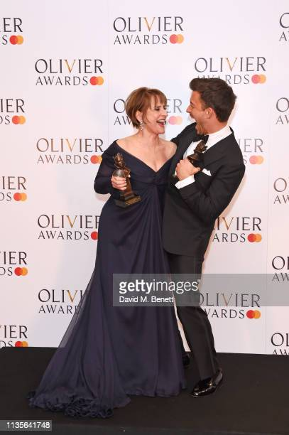 Patti LuPone winner of the Best Actress In A Supporting Role In A Musical award for 'Company' and Jonathan Bailey winner of the Best Actor In A...