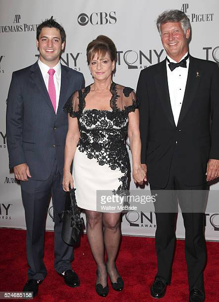 Patti Lupone with Husband Son attending The 65th Annual Tony Awards in New York City