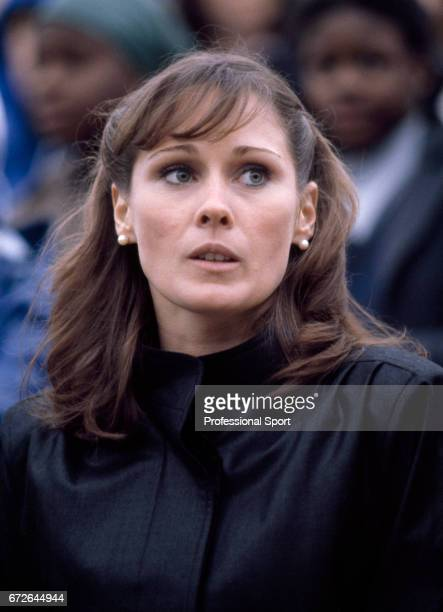 Patti McGuire Connors wife of Jimmy Connors at the French Open Tennis Championships circa September 1980