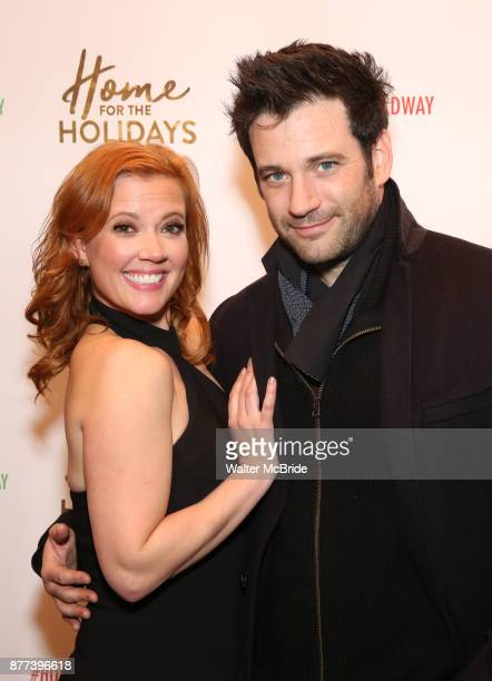Patti Murin and Colin Donnell attend the Broadway Opening Night performance of 'Home for the Holidays The Broadway Concert Celebration' at the August...