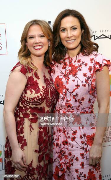 Patti Murin and Laura Benanti attends the 2018 Drama League Awards at the Marriot Marquis Times Square on May 18 2018 in New York City