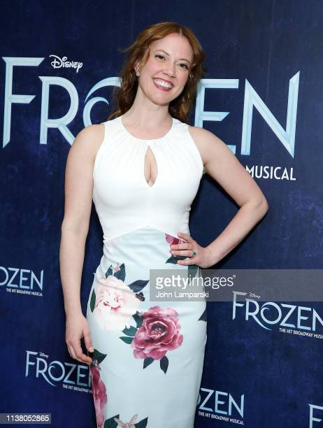 Patti Murin attends cast of Frozen one year celebration on Broadway on March 24 2019 in New York City