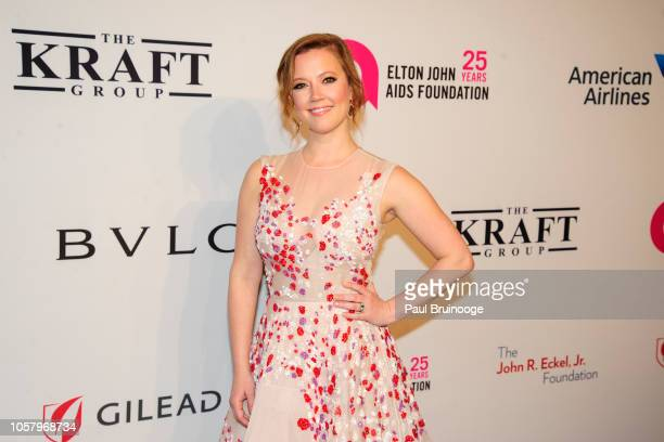 Patti Murin attends Elton John AIDS Foundation's 17th Annual An Enduring Vision Benefit at Cipriani 42nd Street NYC on November 5 2018 in New York...
