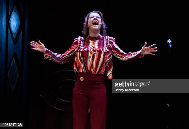 Patti Murin performs during The 24 Hour Musicals in support of the Lilly Awards at American Airlines Theatre on October 29 2018 in New York City