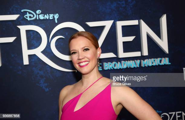 Patti Murin poses at the opening night after party for Disney's new hit musical Frozen on Broadway at Terminal 5 on March 22 2018 in New York City
