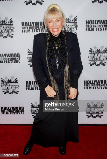 Patti Negri arrives at A Dark Foe Film Premiere on February 15 2020 in Los Angeles California