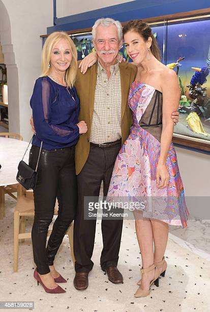 Patti Neuwirth Peter Neuwirth and jewelry designer Irene Neuwirth attend the Irene Neuwirth Flagship Grand Opening on October 30 2014 in West...