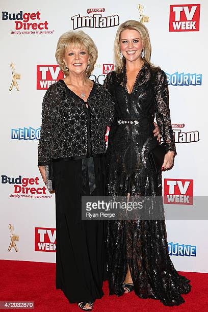 Patti Newton and daughter Lauren Newton arrive at the 57th Annual Logie Awards at Crown Palladium on May 3 2015 in Melbourne Australia