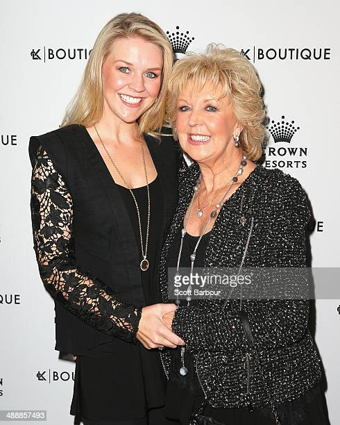 Patti Newton and Lauren Newton arrive at Crown's Celebrity Mother's Day Luncheon at Crown on May 9 2014 in Melbourne Australia