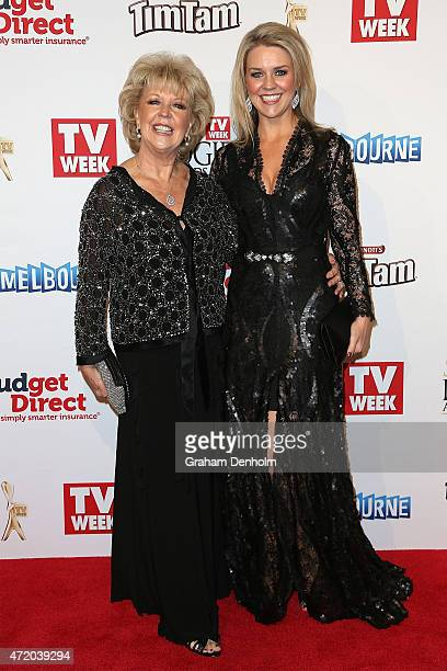 Patti Newton and Lauren Newton arrive at the 57th Annual Logie Awards at Crown Palladium on May 3 2015 in Melbourne Australia