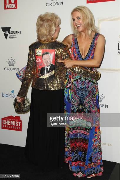 Patti Newton and Lauren Newton arrives at the 59th Annual Logie Awards at Crown Palladium on April 23 2017 in Melbourne Australia