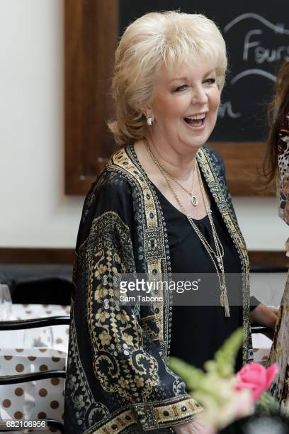 Patti Newton arrives ahead of the Crown Celebrity Mother's Day Luncheon on May 12 2017 in Melbourne Australia