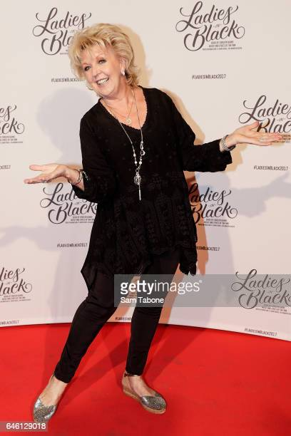 Patti Newton arrives at Regent Theatre on February 28 2017 in Melbourne Australia