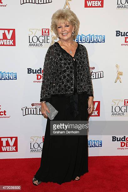 Patti Newton arrives at the 57th Annual Logie Awards at Crown Palladium on May 3 2015 in Melbourne Australia