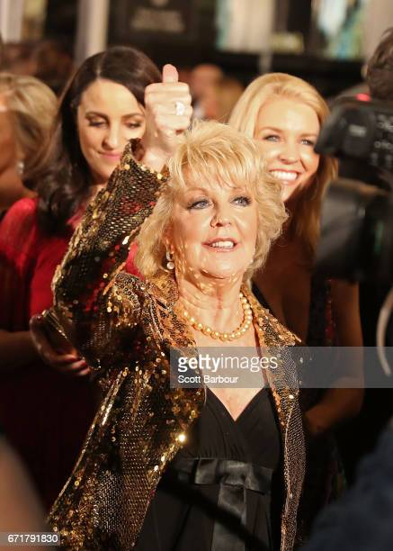 Patti Newton arrives at the 59th Annual Logie Awards at Crown Palladium on April 23 2017 in Melbourne Australia