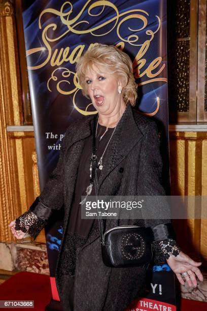 Patti Newton arrives for opening night of the Shanghai Ballet's production of Swan Lake at Regent Theatre on April 21 2017 in Melbourne Australia