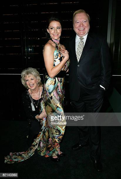 Patti Newton Simmone Jade Mackinnon and Bert Newton attend the Women's Day 60th Anniversary Celebrations at the Glass Brasserie on July 31 2008 in...