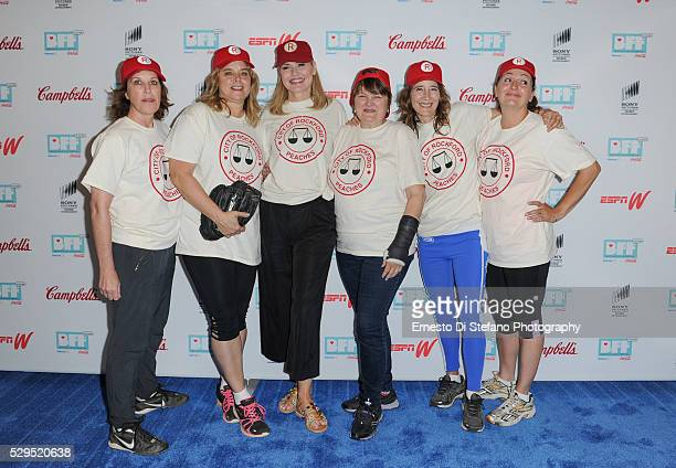 Patti Pelton Freddie Simpson Geena Davis Megan Cavanagh Anne Ramsay and Tracy Reiner Cast from A League Of Their Own attend A League Of Their Own...