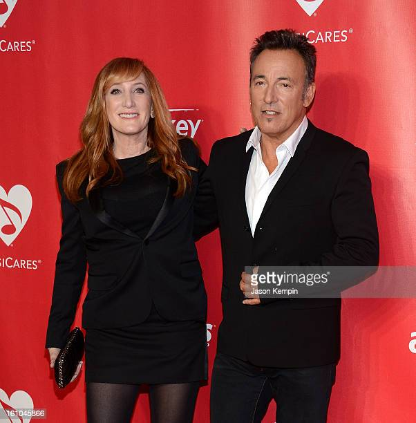 Patti Scialfa and Bruce Springsteen attend the 2013 MusiCares Person Of The Year Gala Honoring Bruce Springsteen at Los Angeles Convention Center on...