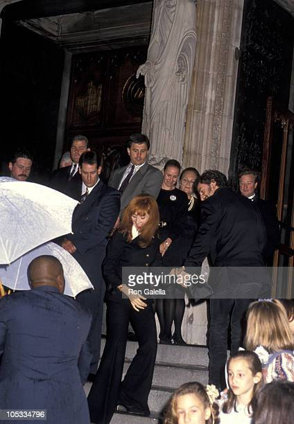 Patti Scialfa and Bruce Springsteen during Wedding of Mariah Carey and Tommy Mottola at St Thomas Episcopal Church/Metropolitan Club in New York City...