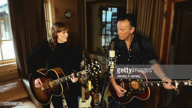 Patti Scialfa and Bruce Springsteen perform during 'Jersey 4 Jersey' a onenight broadcast fundraiser to fight the impact of COVID19 in New Jersey...