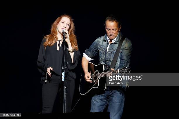 Patti Scialfa and Bruce Springsteen perform on stage at The New York Comedy Festival and The Bob Woodruff Foundation present the 12th Annual Stand Up...