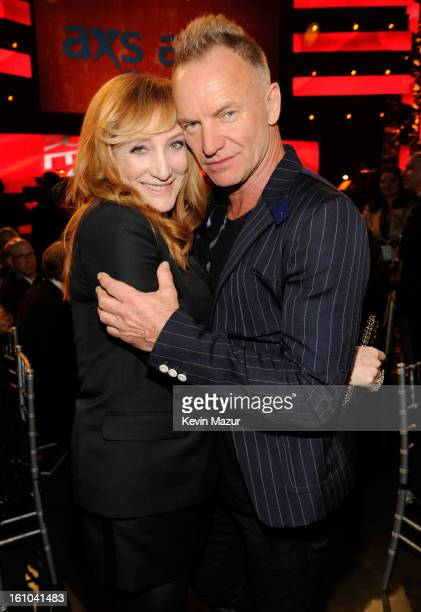 Patti Scialfa and Sting attend MusiCares Person Of The Year Honoring Bruce Springsteen at Los Angeles Convention Center on February 8, 2013 in Los...