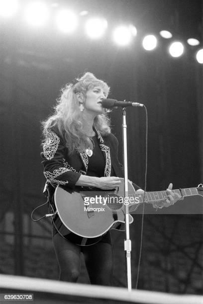Patti Scialfa member of Bruce Springsteen's E Street Band in Concert Villa Park Birmingham Tuesday 21st June 1988