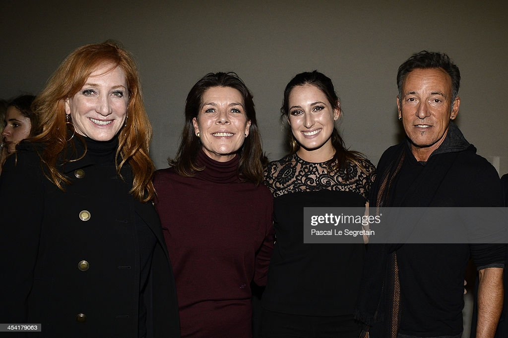 Patti Scialfa, Princess Caroline of Hanover, Jessica Springsteen and Bruce Springsteen pose after the Style & Competition for Amade at the Gucci Paris Masters 2013 on December 7, 2013 in Paris, France.