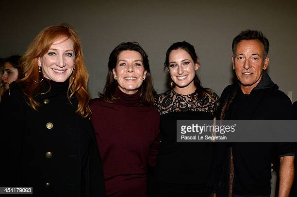 Patti Scialfa Princess Caroline of Hanover Jessica Springsteen and Bruce Springsteen pose after the Style Competition for Amade at the Gucci Paris...
