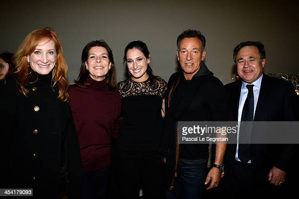 Patti Scialfa Princess Caroline of Hanover Jessica Springsteen Bruce Springsteen and Pieter Bogaardt pose after the Style Competition for Amade at...