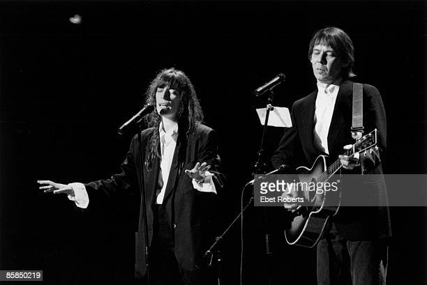 UNSPECIFIED CIRCA 2000 Patti SMITH and Fred Sonic SMITH with Fred Sonic Smith performing live onstage