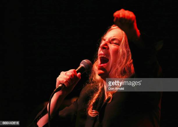 Patti Smith and her band perform their album Horses in its entirety at State Theatre on April 9 2017 in Sydney Australia