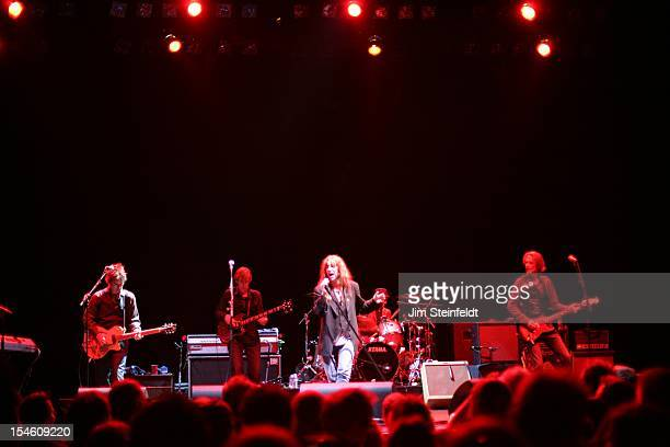 Patti Smith and her band performs at the Wiltern Theater in Los Angeles California on October 12 2012