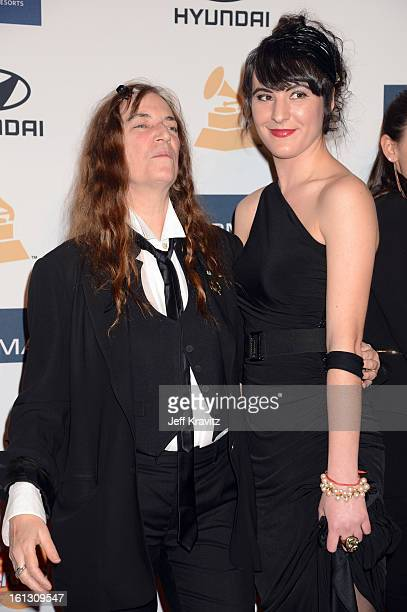 Patti Smith and her daughter Jesse Smith arrive at Clive Davis and The Recording Academy's 2013 GRAMMY Salute to Industry Icons Gala held at The...