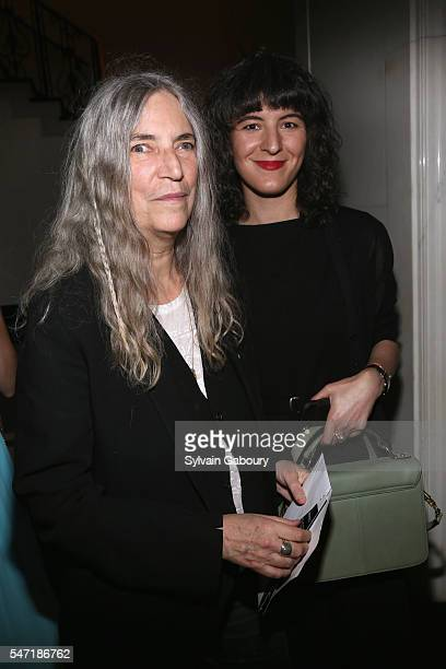 Patti Smith and Jesse Smith attend Amazon Lionsgate with The Cinema Society Host the After Party for Cafe Society at The Carlyle on July 13 2016 in...
