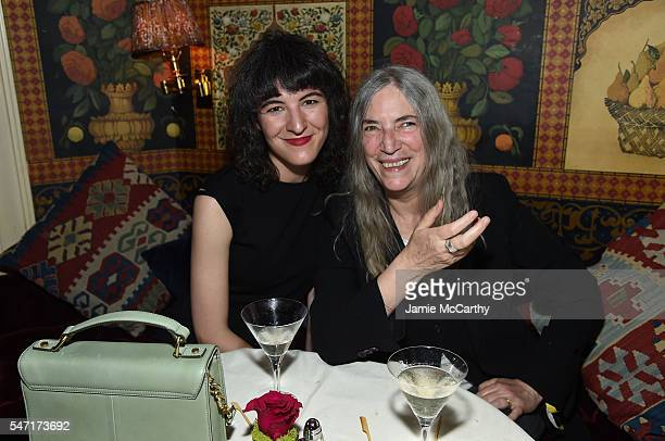 """Patti Smith and Jesse Smith attend the after party for the """"Cafe Society"""" premiere hosted by Amazon & Lionsgate with The Cinema Society at The..."""