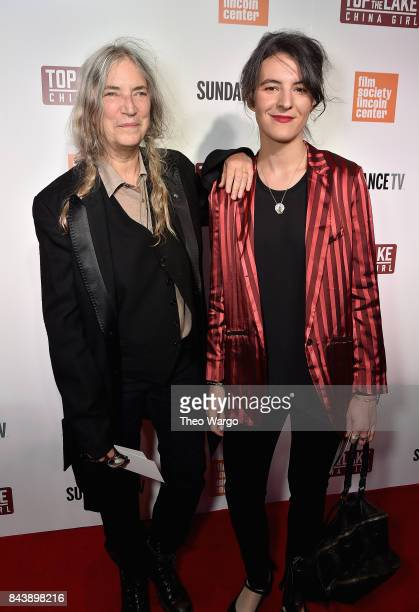 Patti Smith and Jesse Smith attend 'Top Of The Lake China Girl' Premiere at Walter Reade Theater on September 7 2017 in New York City