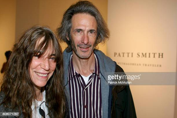 Patti Smith and Lenny Kaye attend PATTI SMITH A Pythagorean Traveler at Robert Miller Gallery on December 1 2006 in New York City