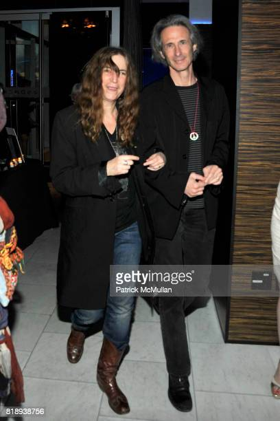 Patti Smith and Lenny Kaye attend PATTI SMITH Live in Concert A Benefit for The American Folk Art Museum at Espace on May 15 2010 in New York City