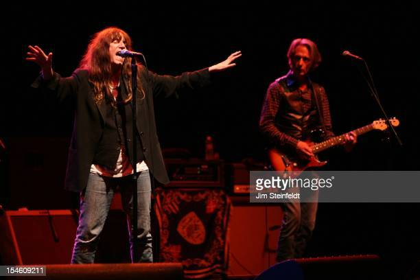 Patti Smith and Lenny Kaye perform at the Wiltern Theater in Los Angeles California on October 12 2012