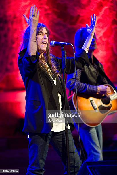 Patti Smith and Lenny Kaye perform on stage during Festival del Millenni at Palau De La Musica on November 19 2012 in Barcelona Spain