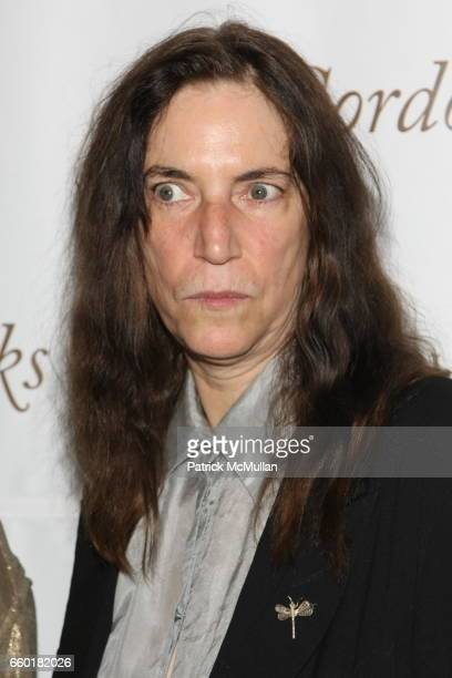 Patti Smith attends Celebrating Fashion Gala Awards Dinner to Support The GORDON PARKS Foundation at Gotham Hall on June 2 2009 in New York City