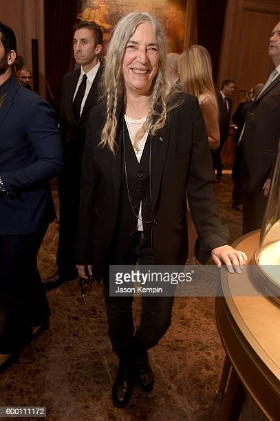 Patti Smith attends the Cartier Fifth Avenue Grand Reopening Event at the Cartier Mansion on September 7 2016 in New York City
