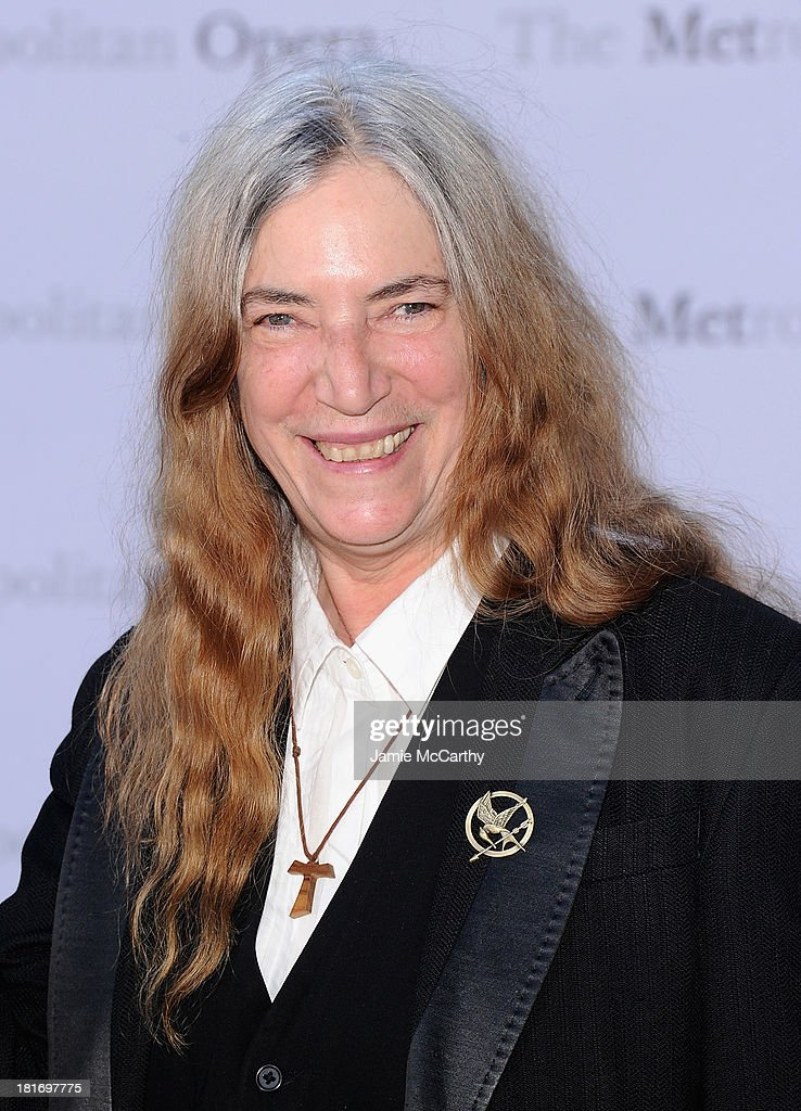 Patti Smith attends the Metropolitan Opera Season Opening Production Of 'Eugene Onegin' at The Metropolitan Opera House on September 23, 2013 in New York City.